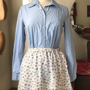 Cotton a line mini skirt